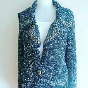 Beaded Cardigan Long Sweater Bcbg Maxazria L